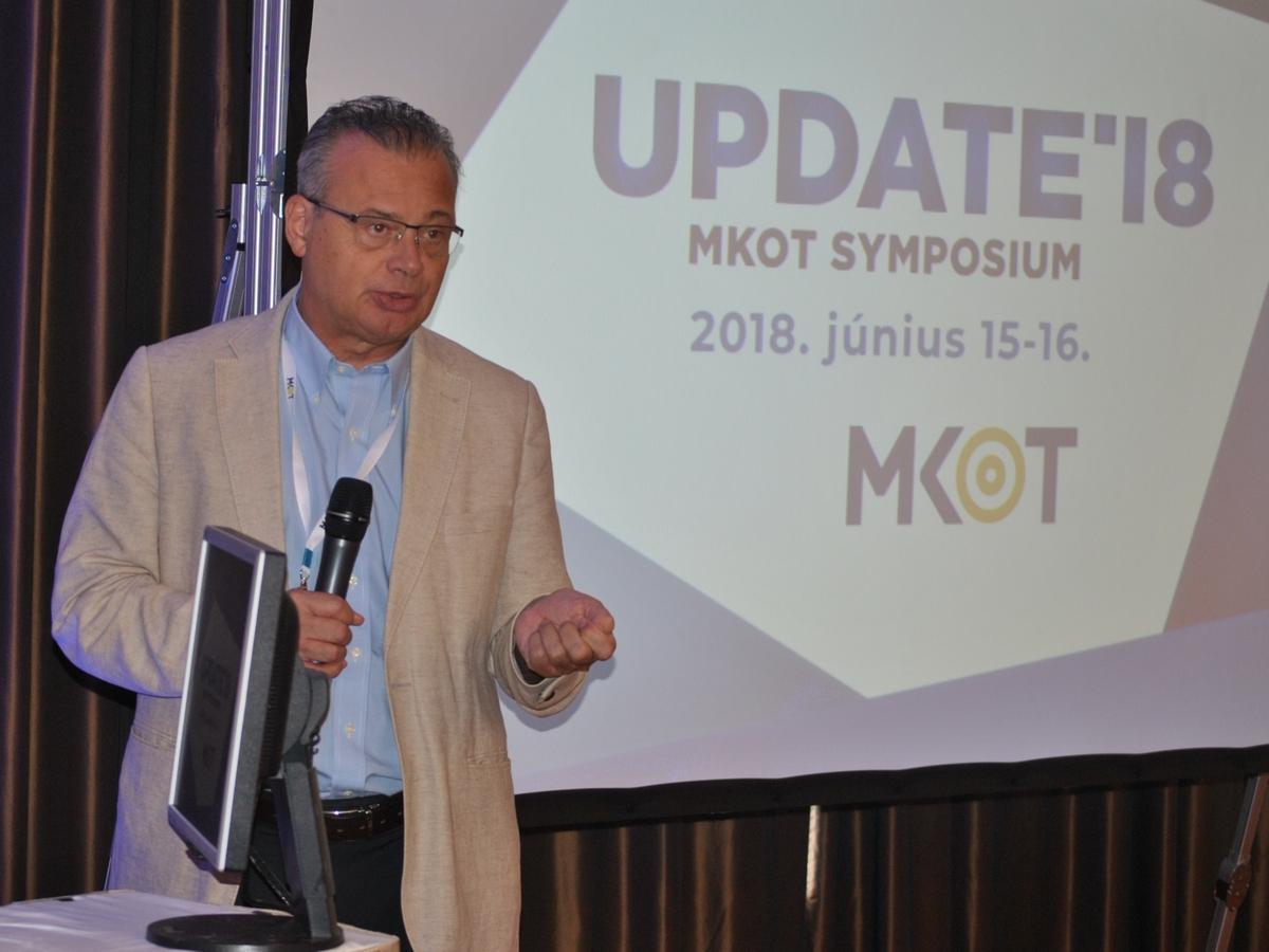 Bodoky György, az MKOT Update'18 szimpózium elnöke